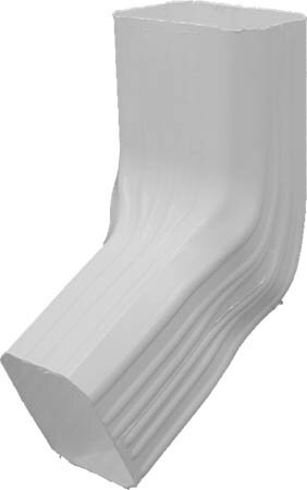 White DuraSpout Elbow A To B Style by GenovaProducts