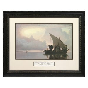 Peace Be Still Framed Print Painting by The James Lawrence Company