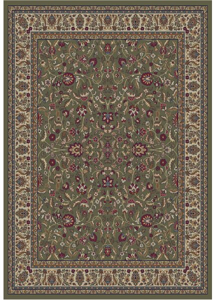 Jewel Kashan Green Area Rug by Threadbind