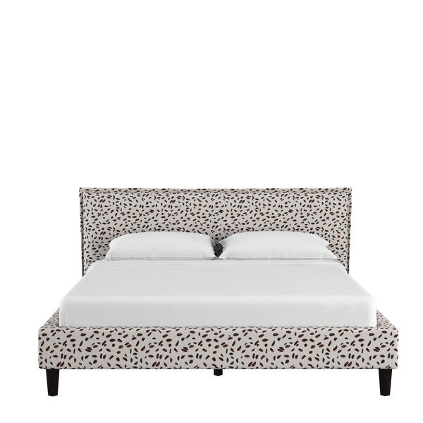 Vernita Seamed Neo Leo Upholstered Standard Bed by Wrought Studio