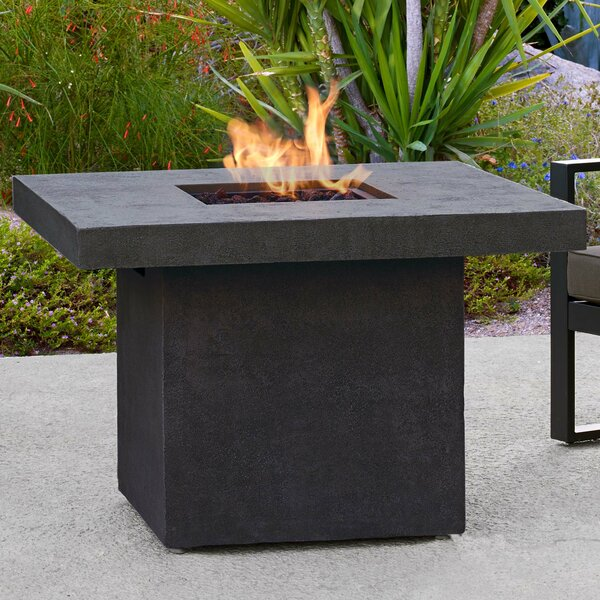 Ventura Concrete Propane Fire Pit Table by Real Flame