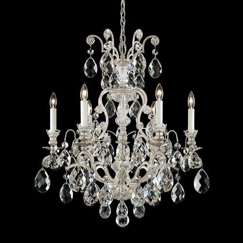 Renaissance 6 - Light Candle Style Empire Chandelier By Schonbek