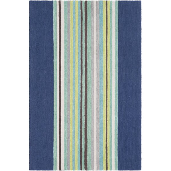 Chatman Hand Tufted Wool Blue/Mint Area Rug by Harriet Bee