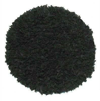 Thalassa Premium Leather Black Rug by IXI