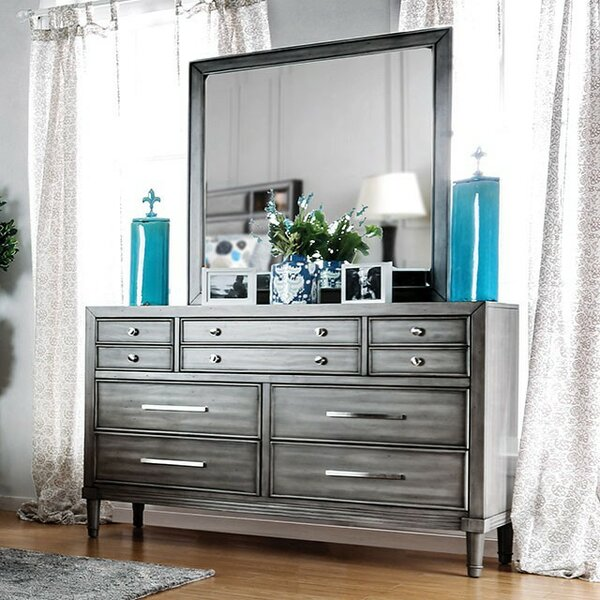 Julia 10 Drawer Double Dresser by Everly Quinn