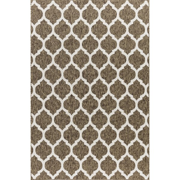 Ramsay Brown Indoor/Outdoor Area rug by Charlton Home