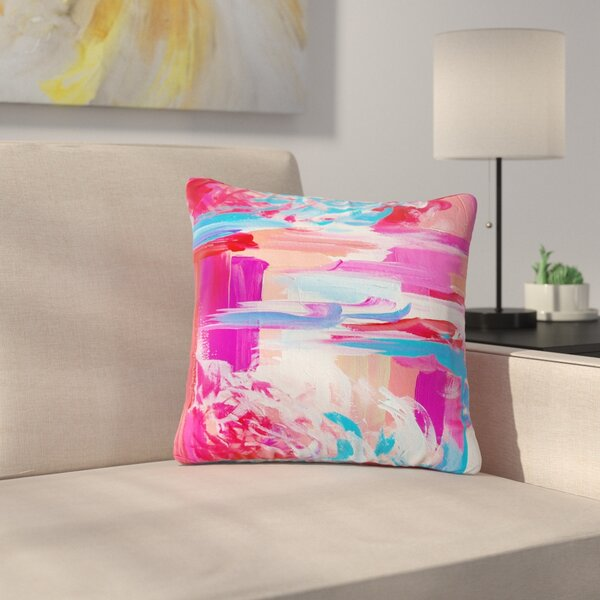 Ebi Emporium On the Move Magenta Outdoor Throw Pillow by East Urban Home