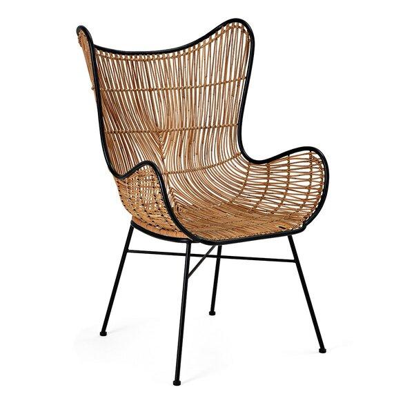 Mccroskey Woven Wicker Armchair by Bungalow Rose