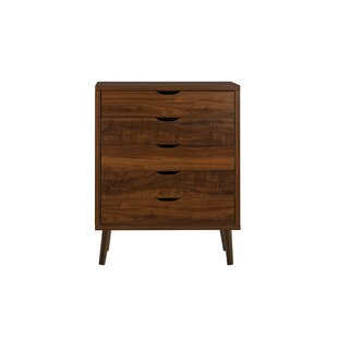 Waltrip Modern 5 Drawer Accent Chest By George Oliver