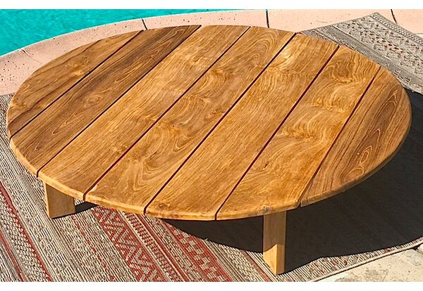 51 Round Teak Outdoor Coffee Table by Trijaya Living