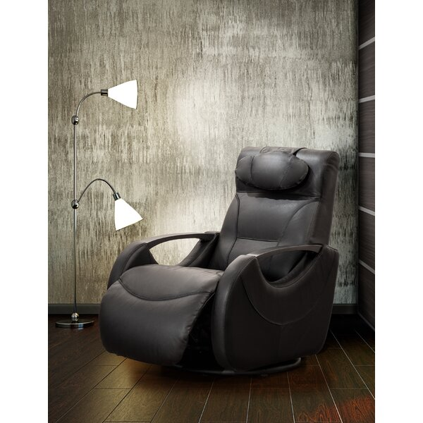 Losoya Leather Manual Swivel Recliner by Orren Ellis