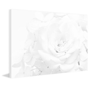 'White Rose' Painting Print on Wrapped Canvas by Marmont Hill