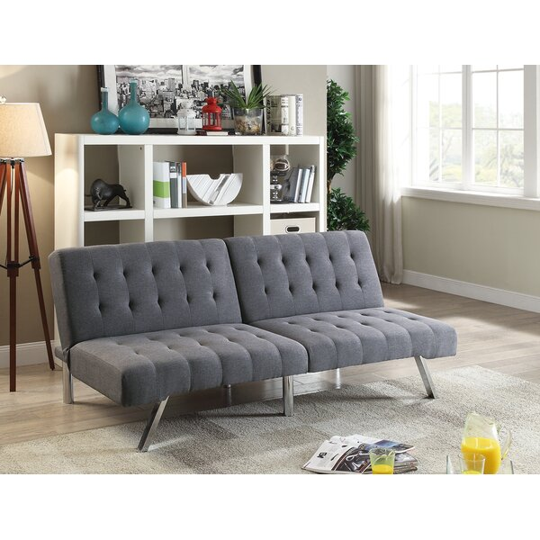 Lyall Tufted Seat and Back Polyfiber Adjustable Convertible Sofa by Latitude Run
