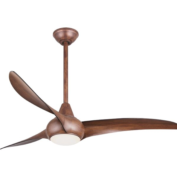 52 Wave 3 Blade Ceiling Fan with Remote by Minka Aire