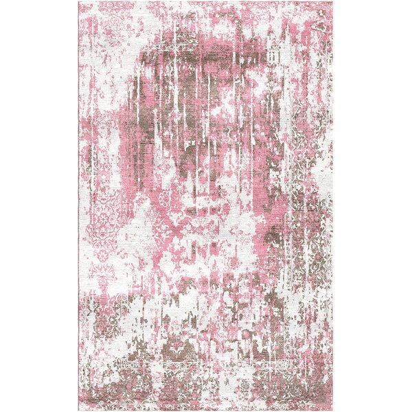 Aliza Handloom Pink Area Rug by Bungalow Rose