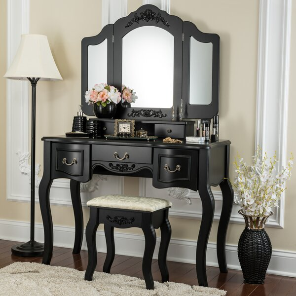 Pattonsburg Vanity Set with Mirror by House of Hampton