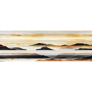 'Rolling Hills' by Parvez Taj Painting Print on White Wood by Parvez Taj