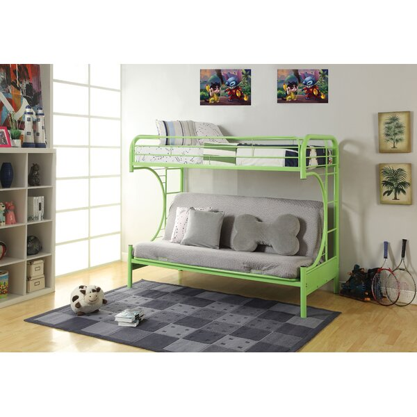 Hiett Twin Over Twin Futon Bunk Bed by Zoomie Kids