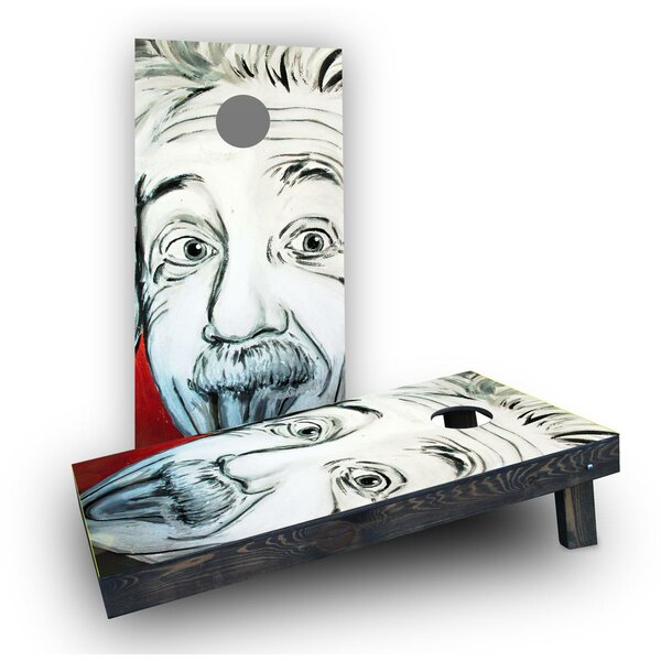 Artistic Einstein Cornhole Boards (Set of 2) by Custom Cornhole Boards