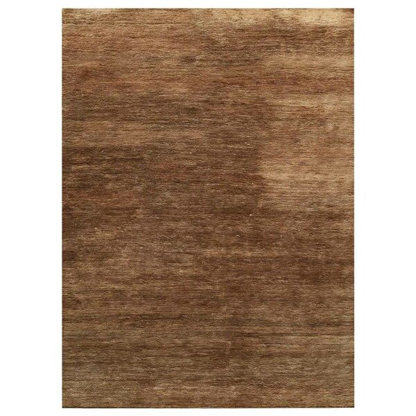 St Catherine Solid Hand-Knotted Brown Indoor/Outdoor Area Rug by Millwood Pines