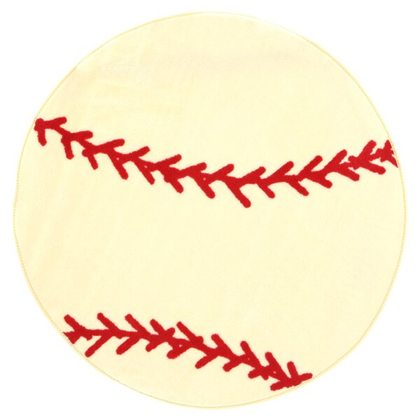 Fun Shape High Pile Baseball Sports Area Rug by Fun Rugs