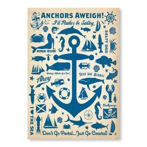 Anchor Pattern Print Vintage Advertisement by Breakwater Bay