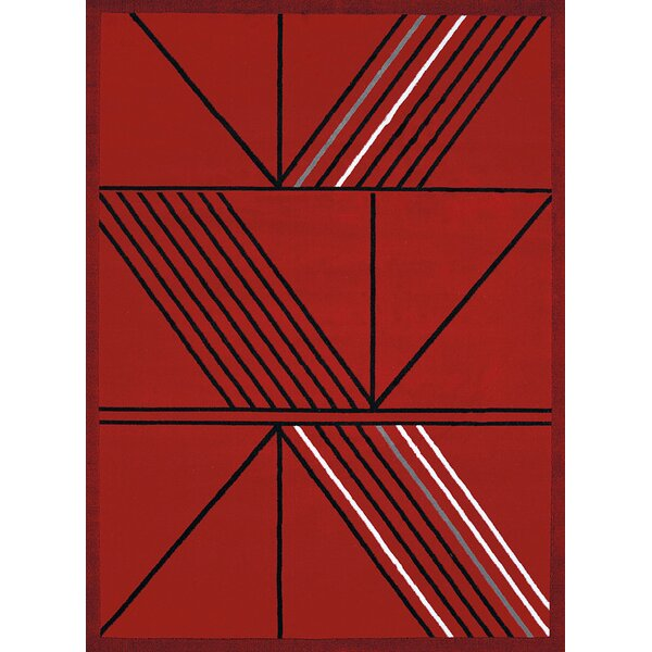 Partlow Red Area Rug by Wrought Studio