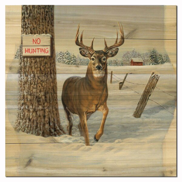 No Hunting by Jon Ren Painting Print Plaque by WGI-GALLERY