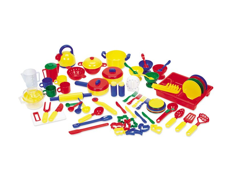 Learning resources 70 piece pretend and play kitchen set for Naaptol kitchen set 70 pieces