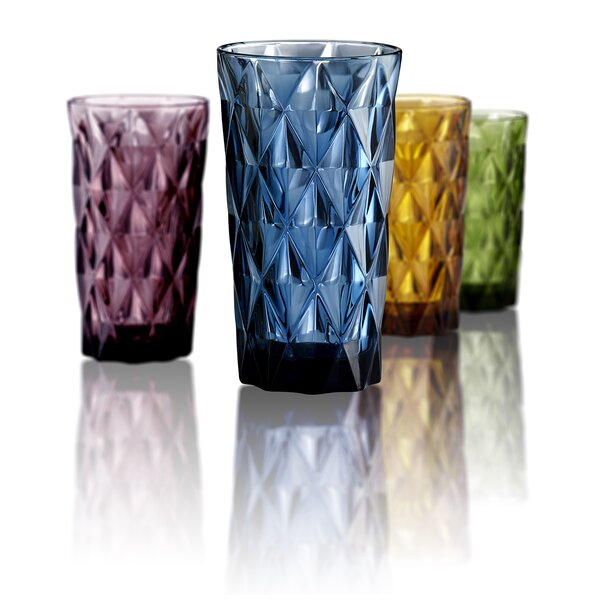 Kaleb 15 oz. Highball Glass (Set of 4) by Mint Pantry