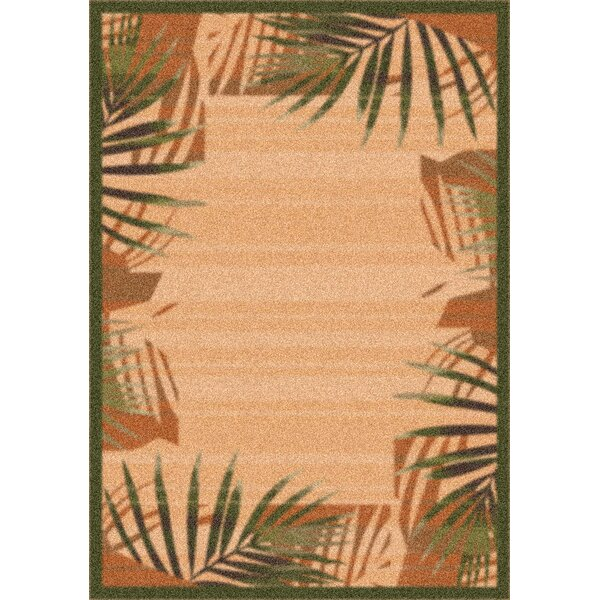 Modern Times Palm Deep Olive Area Rug by Milliken