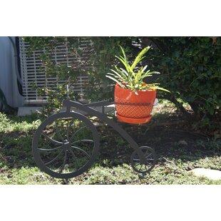Metal Lawn Art Bicycle Pot Planter