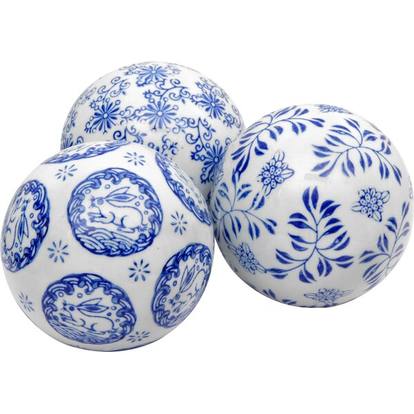 Andersen 3 Piece Decorative Ball Sculpture Set by World Menagerie