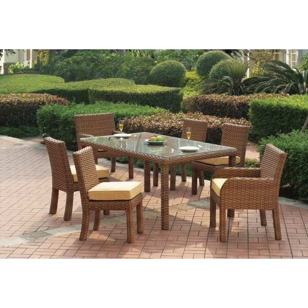 Java 7 Piece Dining Set with Cushion by South Sea Rattan