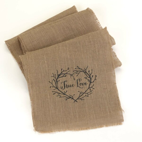 True Love Burlap Table Runner by The Holiday Aisle