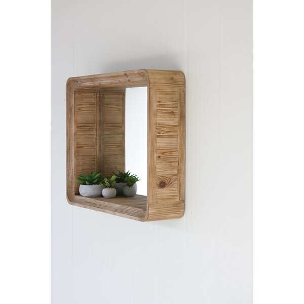 Eichler Wooden Shadow Box Accent Mirror by Wrought Studio
