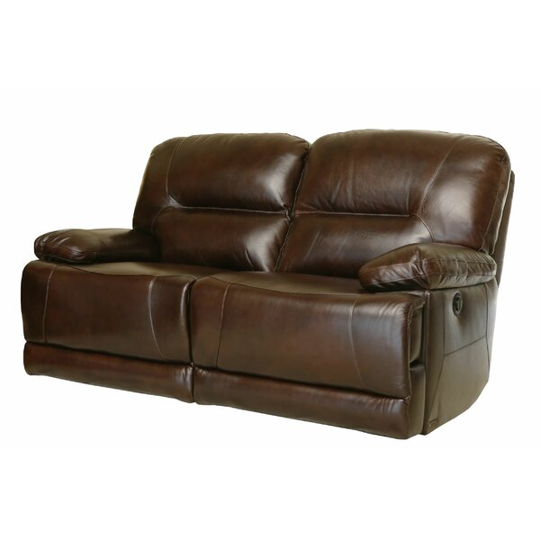 Bartlet Leather Reclining Loveseat by Darby Home Co