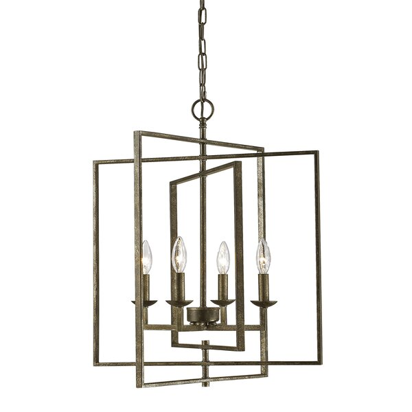 Freya 4-Light Candle Style Rectangle / Square Chandelier by Gracie Oaks Gracie Oaks