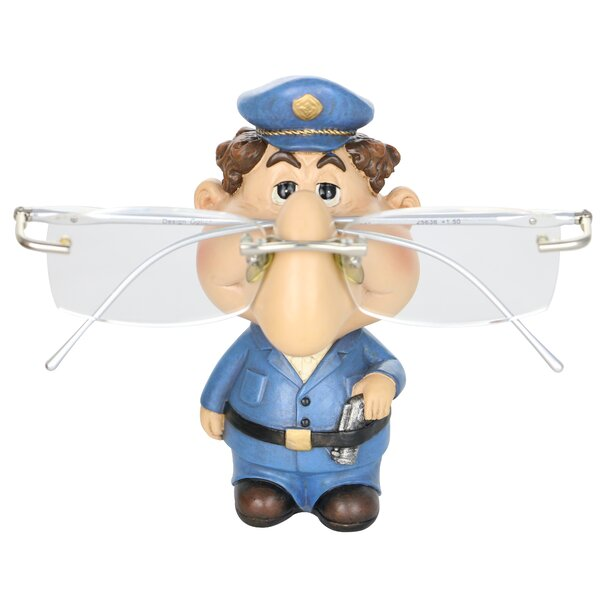 Kyzer Eyeglass Holder Policeman Whimsical Figurine by Winston Porter