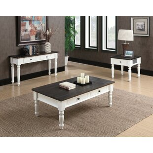 Mulford 3 Piece Coffee Table Set by Beachcrest Home