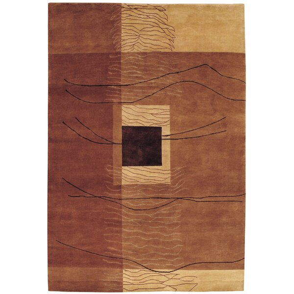 Fitchburg Hand-Knotted Burnished Earthtones Wool Area Rug by Williston Forge