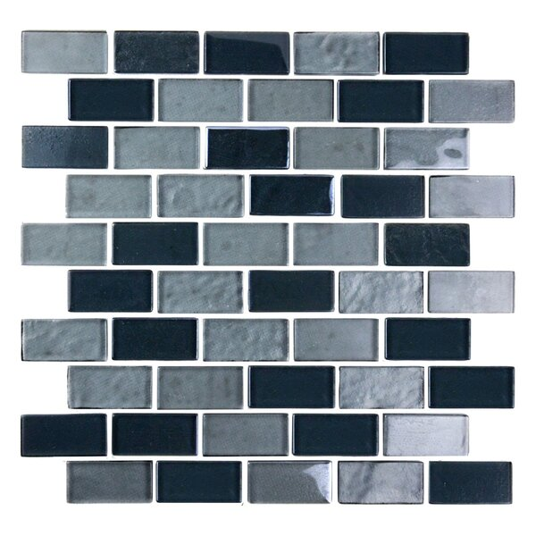 Landscape 1 x 2 Glass Mosaic Tile in Gray by Abolos