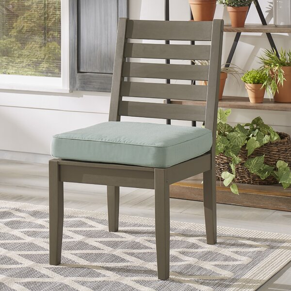 Hursey Patio Dining Chair with Cushion (Set of 2) by Three Posts