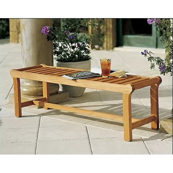 Mahaney Grade-A Luxurious  Teak Garden Bench by Highland Dunes