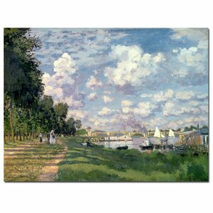 The Marina at Argenteuil, 1872 by Claude Monet Painting Print on Wrapped Canvas by Trademark Fine Art