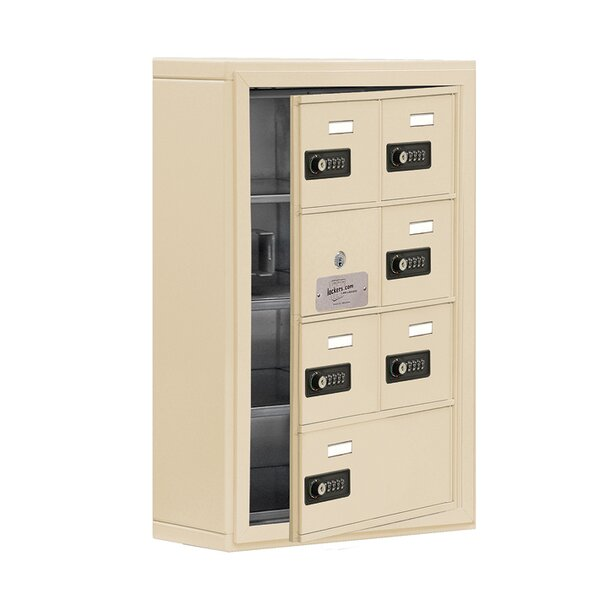 6 Door Cell Phone Locker by Salsbury Industries