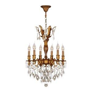 Dodson 6-Light Hardwired Crystal Chandelier