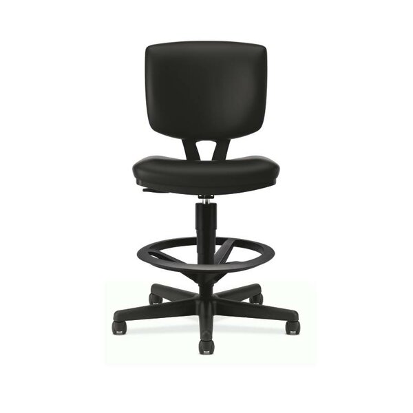 Volt Series Mid-Back Leather Drafting Chair by HON