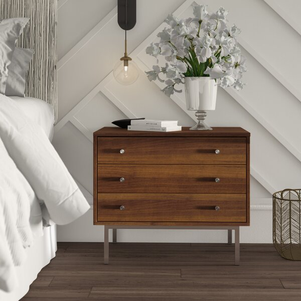 Mannings 3 Drawer Nightstand by Mercury Row