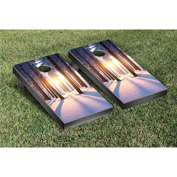 Snowy Sunset Cornhole Game Set by Victory Tailgate